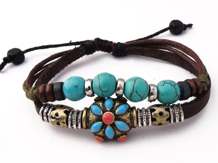 bracelet cuir bouddha